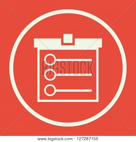 Task List Icon In Vector Format. Premium Quality Task List. Web Graphic Task List Sign On Red Backgr