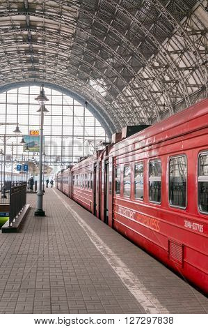 Moscow, Russia - March 23, 2011: Kiev train station