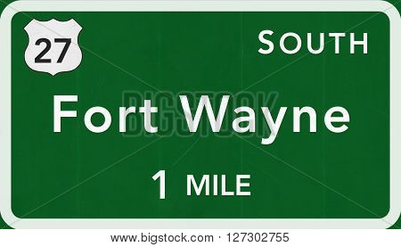 Fort Wayne Usa Interstate Highway Sign