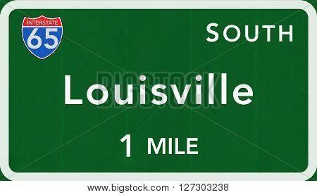 Louisville Usa Interstate Highway Sign