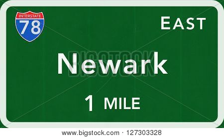 Newark Usa Interstate Highway Sign