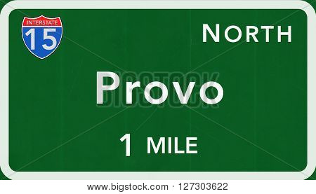 Provo Usa Interstate Highway Sign