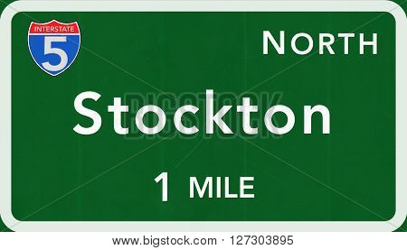 Stockton Usa Interstate Highway Sign