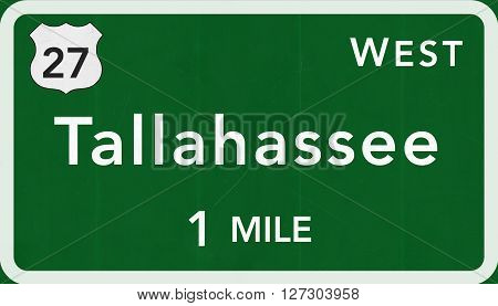Tallahassee Usa Interstate Highway Sign