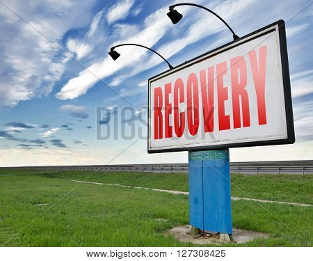 Recovery recover lost data economy recovering