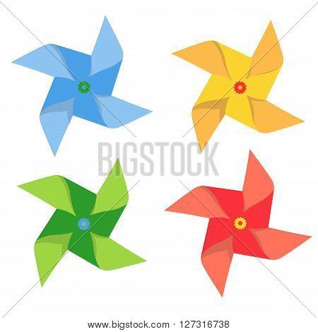 windmill vector illustration. pinwheel isolated on white background