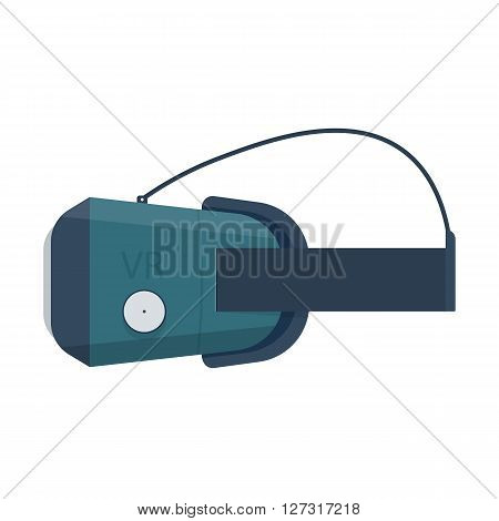 stereoscopic 3d vr mask with headphones. vr goggles vector illustration Isolated on white background.
