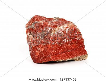 A piece of ore which yields potash. Soligorsk mine. Byelorussia