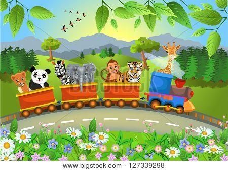 wild animals train