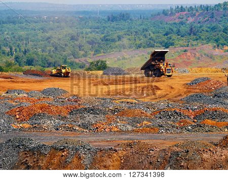 Place where depleted iron ore thrown out