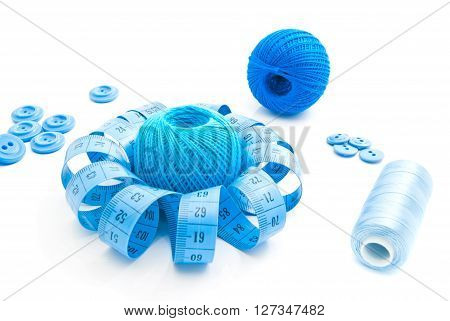 Blue Items For Needlework