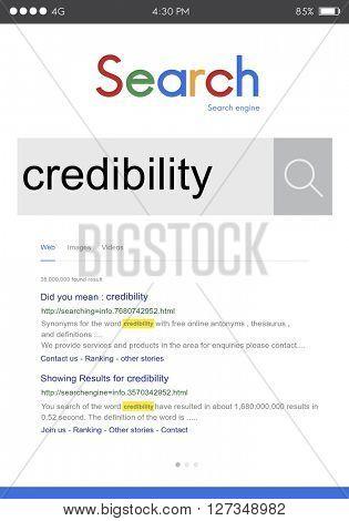 Credibility Dependability Trust Trustworthy Integrity Concept