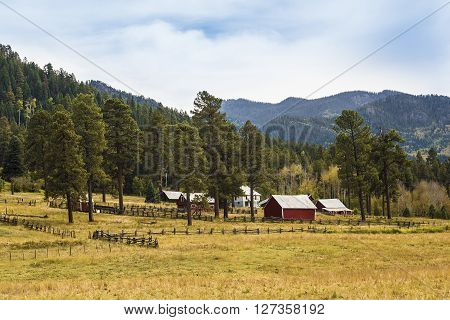 Rural Country view in a Farm in Colorado, USA
