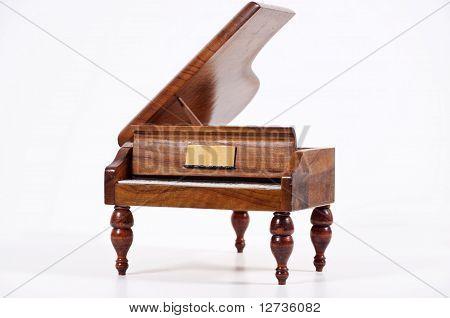 Piano On White