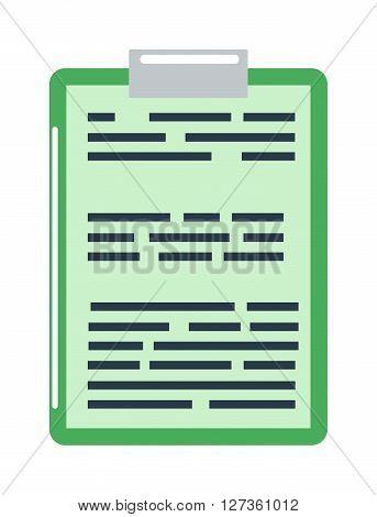 Clipboard document content checklist test icon questionnaire symbol vector illustration. Questionnaire symbol test icon and choice test icon. Paper test icon and report clipboard test icon.