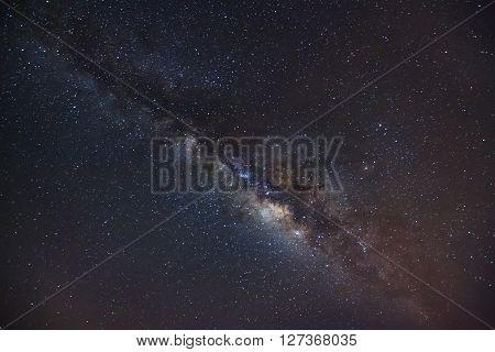 Milky Way Galaxy,long Exposure Photograph, With Grain..