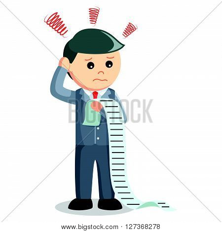 Business man list task  .eps 10 vector illustration flat design