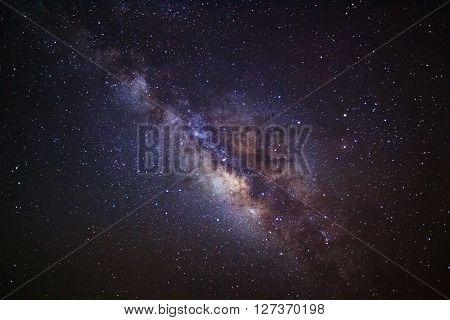 Milky Way Galaxy, Long Exposure Photograph,with Grain