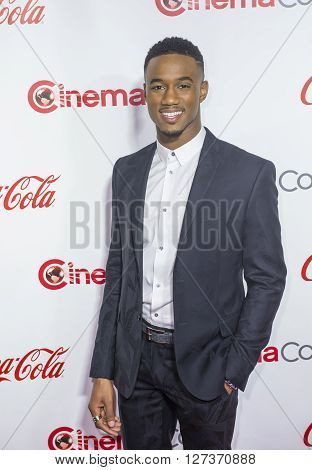 LAS VEGAS - APRIL 14 : Actor Jessie Usher attends the CinemaCon Big Screen Achievement Awards at The Caesars Palace on April 14 2016 in Las Vegas