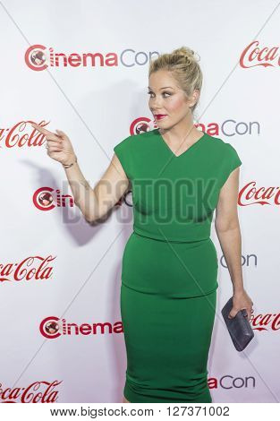LAS VEGAS - APRIL 14 : Actress Christina Applegate one of the recipients of the Female Stars of the Year Award attends the CinemaCon Big Screen Achievement Awards at The Caesars Palace on April 14 2016 in Las Vegas