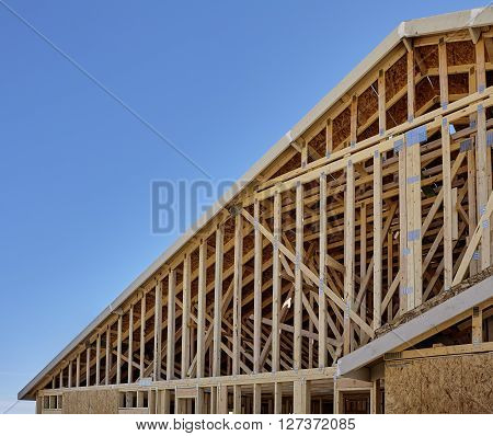 New Housing Gable Roof Framing Construction Industry