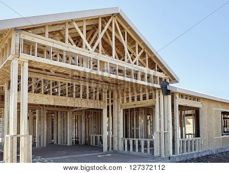 New Home Wood Engineered Frame Construction Industry