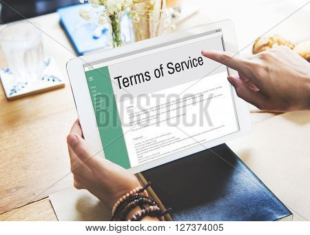 Terms of Service Conditions Rule Policy Regulation Concept