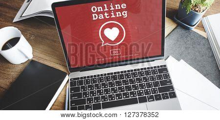 Online Dating Digital Matchmaking Technology Concept