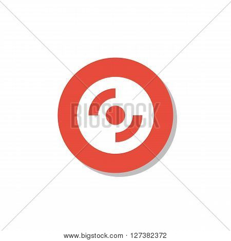 Cd-rom Icon In Vector Format. Premium Quality Cd-rom Symbol. Web Graphic Cd-rom Sign On Red Circle B