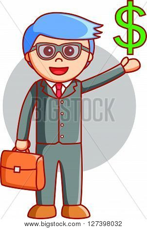 Business man dolar sign .EPS10 editable vector illustration design