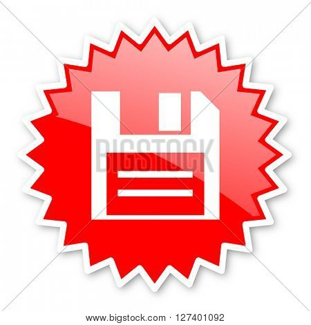 disk red tag, sticker, label, star, stamp, banner, advertising, badge, emblem, web icon
