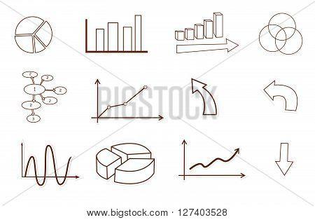 Business finance statistics .eps10 editable vector illustration design