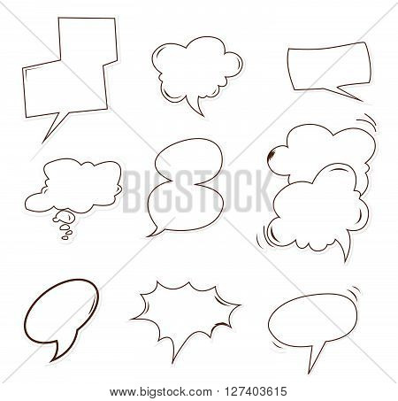 Bubble speech Object Hand Drawn Sketch Doodle .eps10 editable vector illustration design