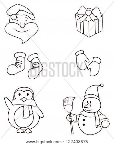 Christmas Doodle  Object Collection .eps10 editable vector illustration design