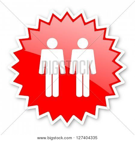 couple red tag, sticker, label, star, stamp, banner, advertising, badge, emblem, web icon