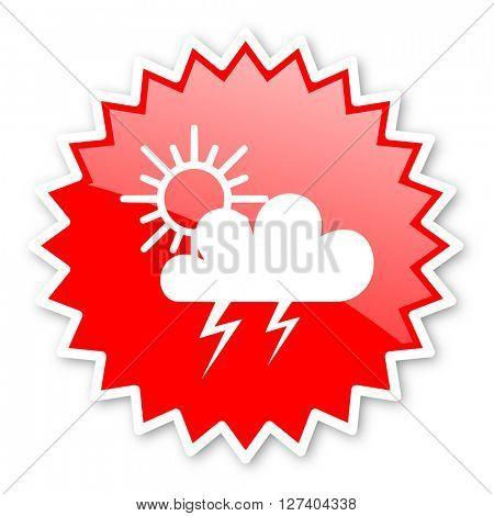 storm red tag, sticker, label, star, stamp, banner, advertising, badge, emblem, web icon