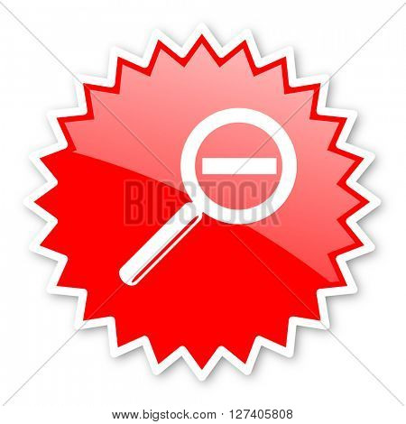 lens red tag, sticker, label, star, stamp, banner, advertising, badge, emblem, web icon