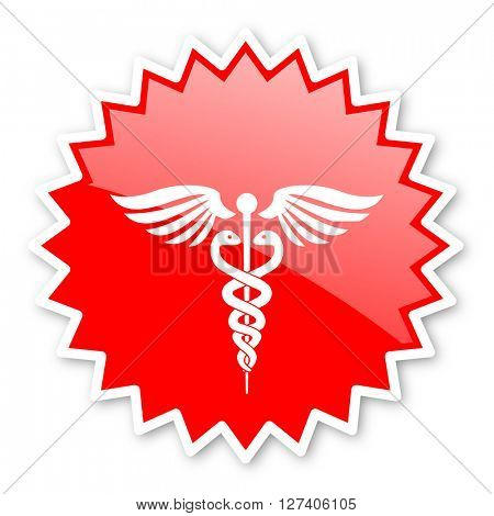 emergency red tag, sticker, label, star, stamp, banner, advertising, badge, emblem, web icon