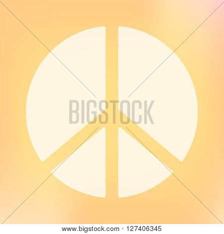 Template of square peace symbol banner. Vector design element. Peace antiwar movement symbol. Sign of hippie, nuclear disarmament movement and peaceful world