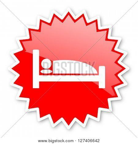 hotel red tag, sticker, label, star, stamp, banner, advertising, badge, emblem, web icon
