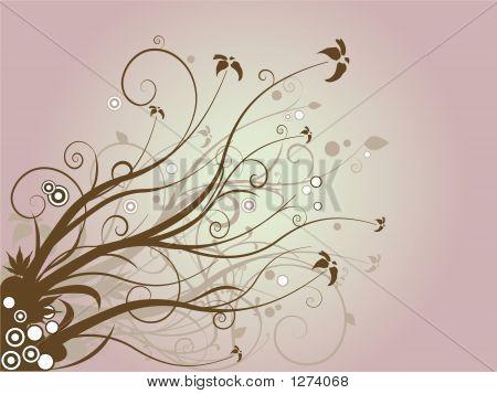 Floral Brown