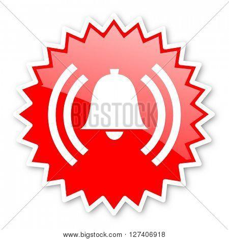 alarm red tag, sticker, label, star, stamp, banner, advertising, badge, emblem, web icon