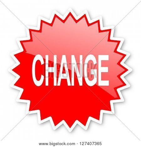 change red tag, sticker, label, star, stamp, banner, advertising, badge, emblem, web icon