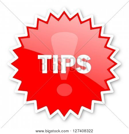 tips red tag, sticker, label, star, stamp, banner, advertising, badge, emblem, web icon