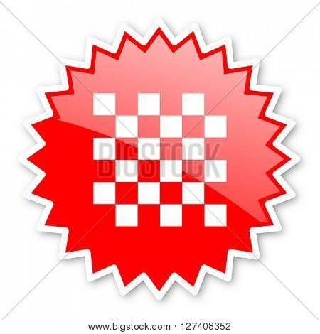 chess red tag, sticker, label, star, stamp, banner, advertising, badge, emblem, web icon