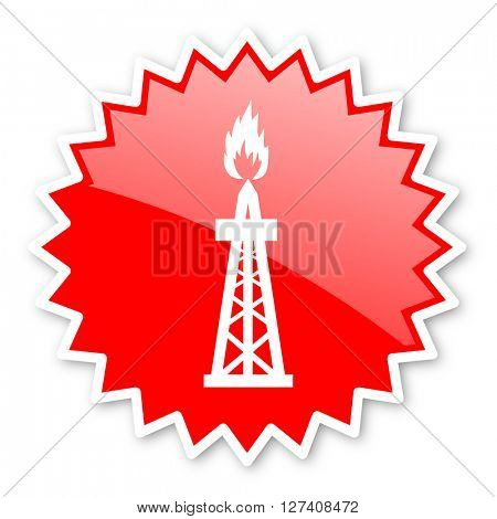 gas red tag, sticker, label, star, stamp, banner, advertising, badge, emblem, web icon