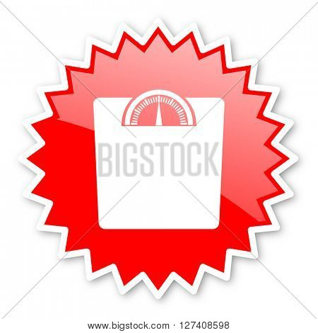 weight red tag, sticker, label, star, stamp, banner, advertising, badge, emblem, web icon