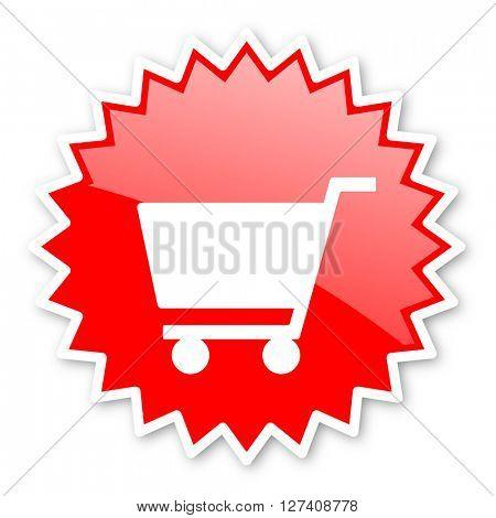 cart red tag, sticker, label, star, stamp, banner, advertising, badge, emblem, web icon