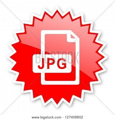 jpg file red tag, sticker, label, star, stamp, banner, advertising, badge, emblem, web icon