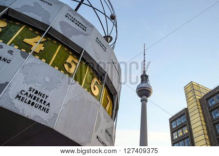 View From Alexanderplatz To The Tv Tower In Berlin